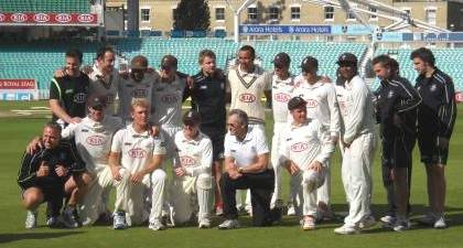 Surrey celebrate promotion